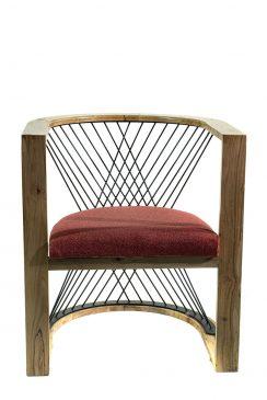 صندلی فلزی(طرح هندسی)