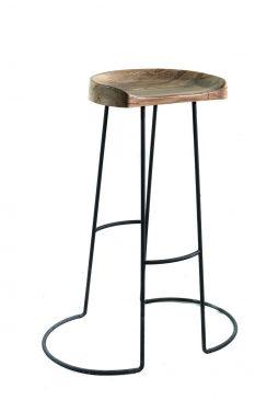 صندلی چوبی-فلزی( برای میز بار)