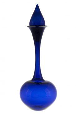 تنگ شیشه ای درب دارگردن بلند آبی کاربنی