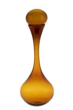 تنگ شیشه ای دربدار مخروطی قهوه ای