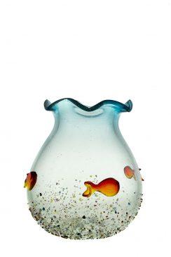 شیشه شیشه گری هنر سنتی هنر دست تنگ شیشه ای تنگ ماهی
