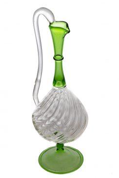 گلاب پاش متوسط خط دار خمره ای سبز سفید