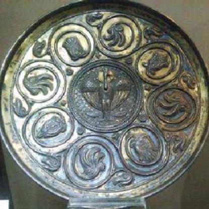 بشقاب فلزی، مربوط به دوره ساسانی