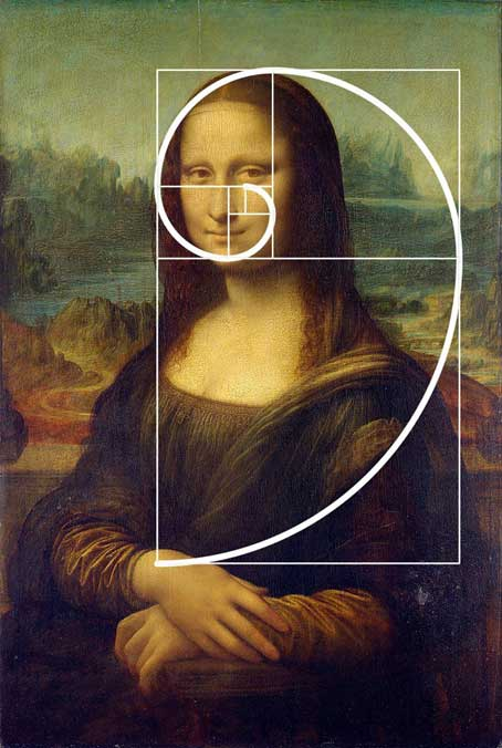 تناسب طلایی در نقاشی مونالیزا، لئوناردو داوینچی