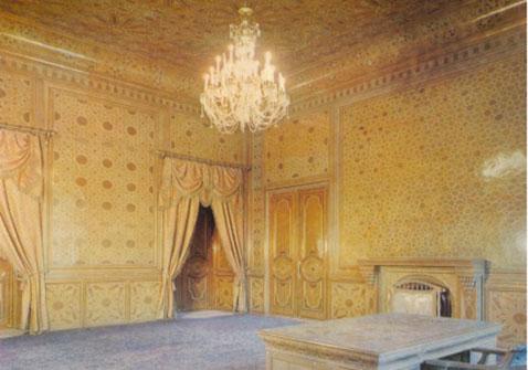 بخشی از فضای داخلی اتاق خاتم