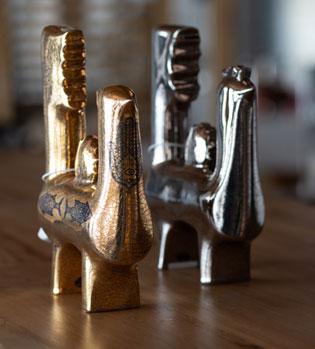 مجسمه های سرامیک، اثر هنرمند معاصر کوروش آریش، موجود در گالری هفتا