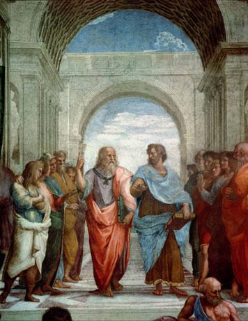 نقاشی مدرسه آتن، اثر رافائل، دوره رنسانس