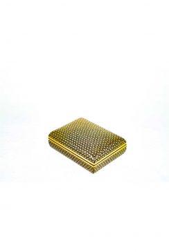جعبه تمام خاتم رنگ مشکی طلایی مناسب جهت جعبه جواهر