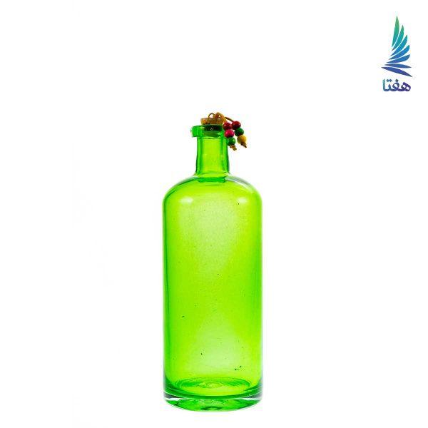 بطری استوانه طوق دار 9*22 سبز 1