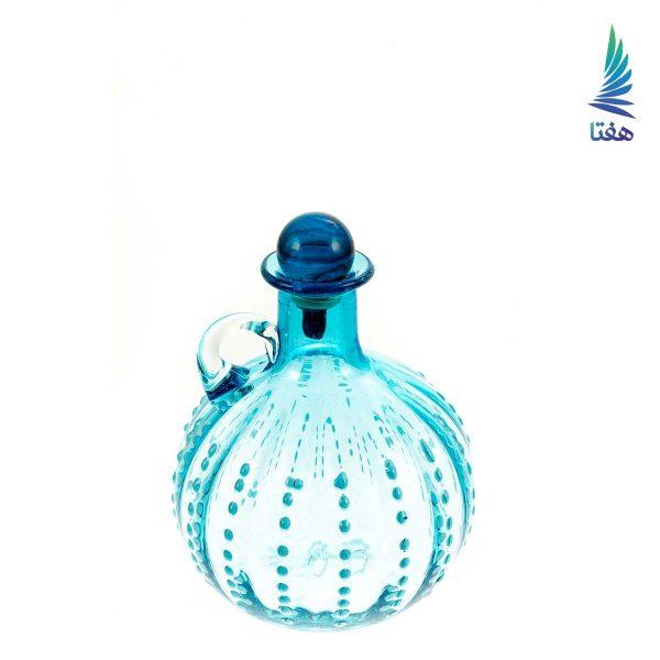 بطری نگینی گرد کوچک آبی