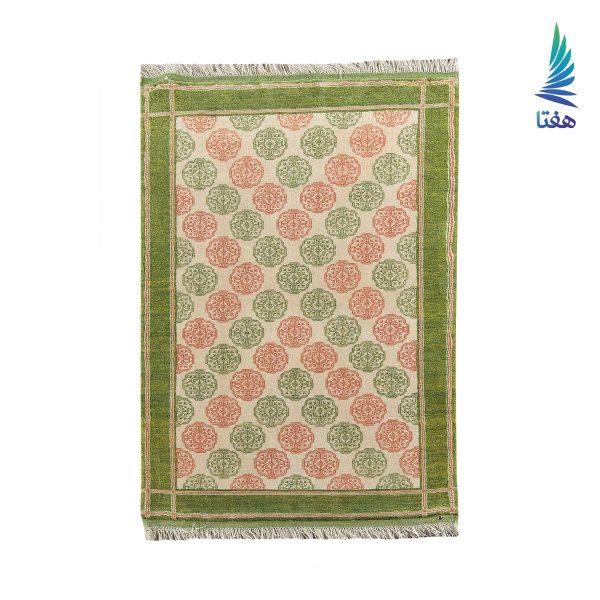 قالیچه ماری گل پشمی سبز