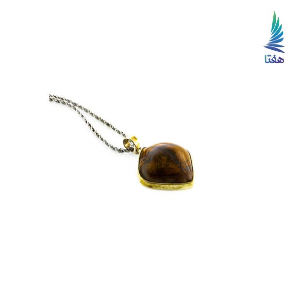 زیورالات نقره زنانه گردنبند سنگ عقیق زیورالات دست ساز