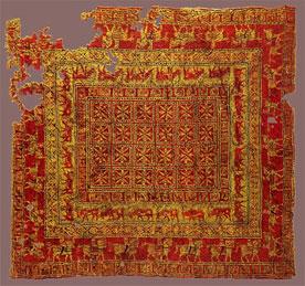 فرش پازیریک، مربوط به دوره هخامنشیان، موزه آرمیتاژ