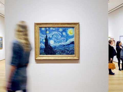نمایشگاهی از آثار ون گوگ، نقاش مشهور هلندی